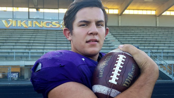 North Kitsap senior running back Dax Solis is aiming for a 2,000-yard season with the Vikings this fall.