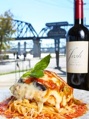 The chicken Sorrentino from Olive Leaf Bistro in Jeffersonville. There's plenty of Big Four Bridge views from the dining room and deck of the Italian-Mediterranean restaurant on Riverside Drive.