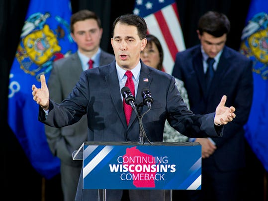 Gov. Scott Walker Attends Election Night Rally In Milwaukee