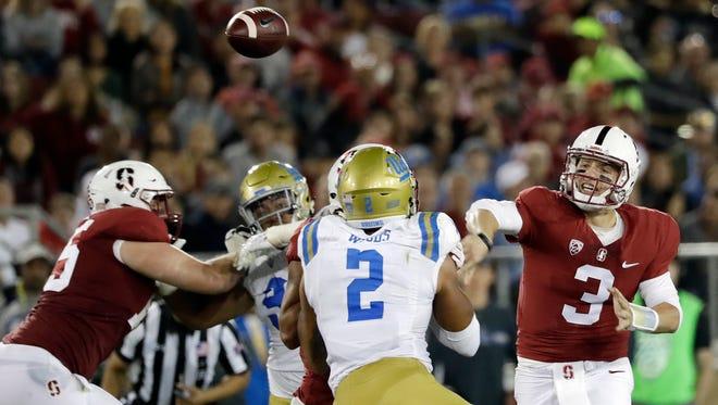 Stanford quarterback K.J. Costello may get his first start Saturday vs. Arizona State.