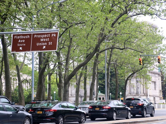 Grand Army Plaza at the north end of Prospect Park,