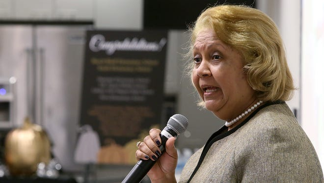 Jackson-Madison County School System Superintendent Dr. Verna Ruffin speaks during the Alliance for a Healthier Generation recognition ceremony at the LIFT Wellness Center in this November file photo.
