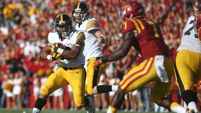 Iowa running back Jordan Canzeri had first 100-yard rushing game since 2013 on Saturday against Iowa State.