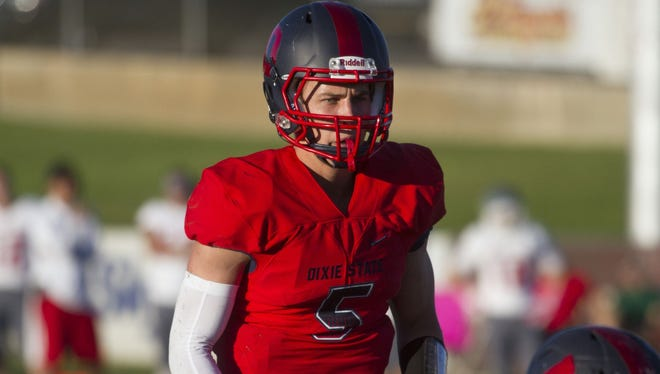 Freshman quarterback Blake Barney set a school-record with 291 yards rushing and three touchdowns in last week's game against South Dakota Mines on the road.