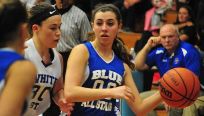 The annual Blue-White All-Star basketball games will be played March 18 at Enka.