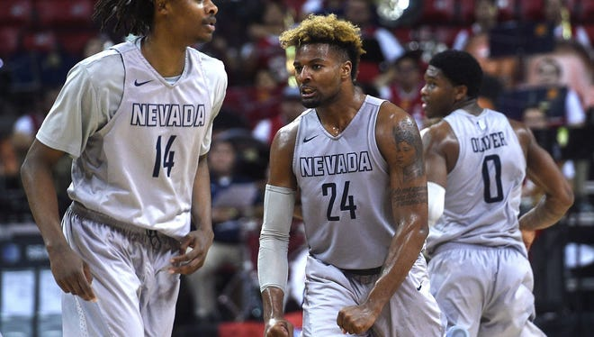 Jordan Caroline and the Wolf Pack will play in the Mountain West Tournament title game Saturday.