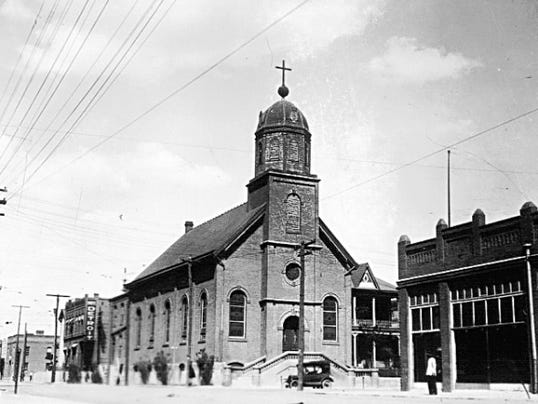 An undated photo of the Church of the Immaculate Conception, 118 N. Campbell. The church was designated the cathedral of the new Diocese of El Paso in 1915.