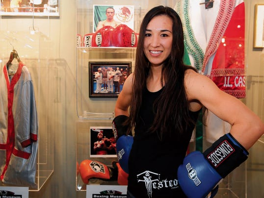 RUBEN R RAMIREZ—EL PASO TIMES El Pasoan Jennifer Hahn will enter the ring Saturday night against last minute replacement, Fatuma Zarike from Kenya for the vancant IBF Intercontinental Featherweight title fight in the El Paso County Coliseum.