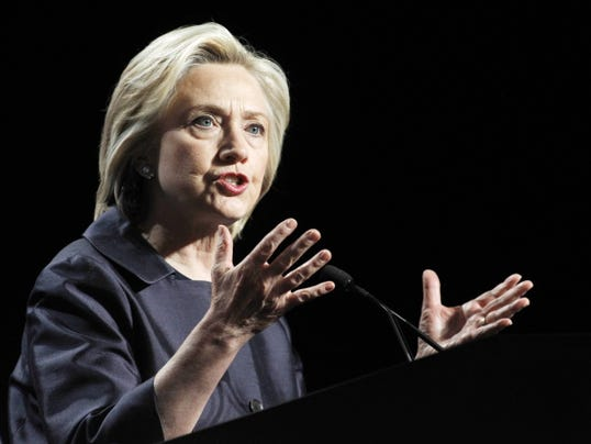 Democratic presidential candidate Hillary Rodham Clinton speaks at the U.S. Conference of Mayors 83rd Annual Meeting in San Francisco on June 20, 2015.