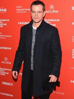 Matt Damon attends the 'Manchester By The Sea' premiere at the Sundance Film Festival  in Park City, Utah.