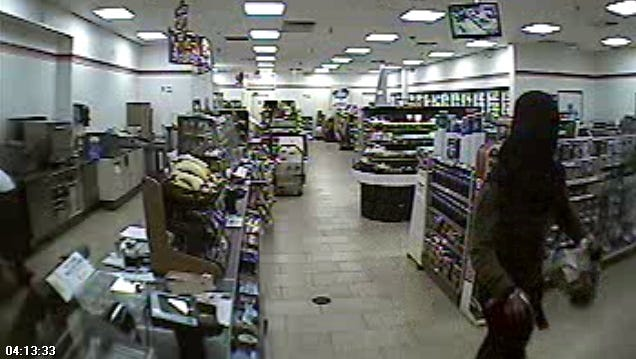 This is a surveillance image of the suspect who robbed the 7-Eleven located at 2275 Winkler Avenue in Fort Myers early Thursday morning.