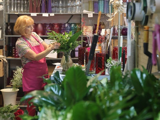 Estero bonita flower shops prepare for valentines day marie godlove a part time flower designer brought mightylinksfo