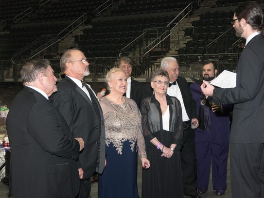 Don Stevenson and Mary Logan wed at the Krewe of Triton
