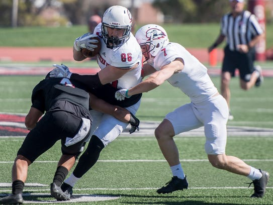Southern Utah University football players play games