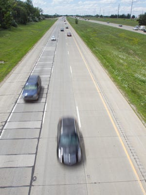 Traffic moves eastbound on I-96 Friday, July 28, 2017 east of Chilson Road. One of three MDOT construction projects in Livingston County would repave I-96 between Chilson and Dorr Roads.