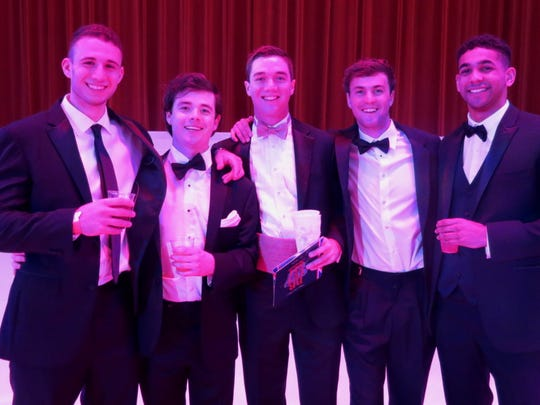 Jalen Twine, Robert Vick, James Roberts, Joseph Geeslin, Andy Klienlien at the Holiday in Dixie Cotillion.