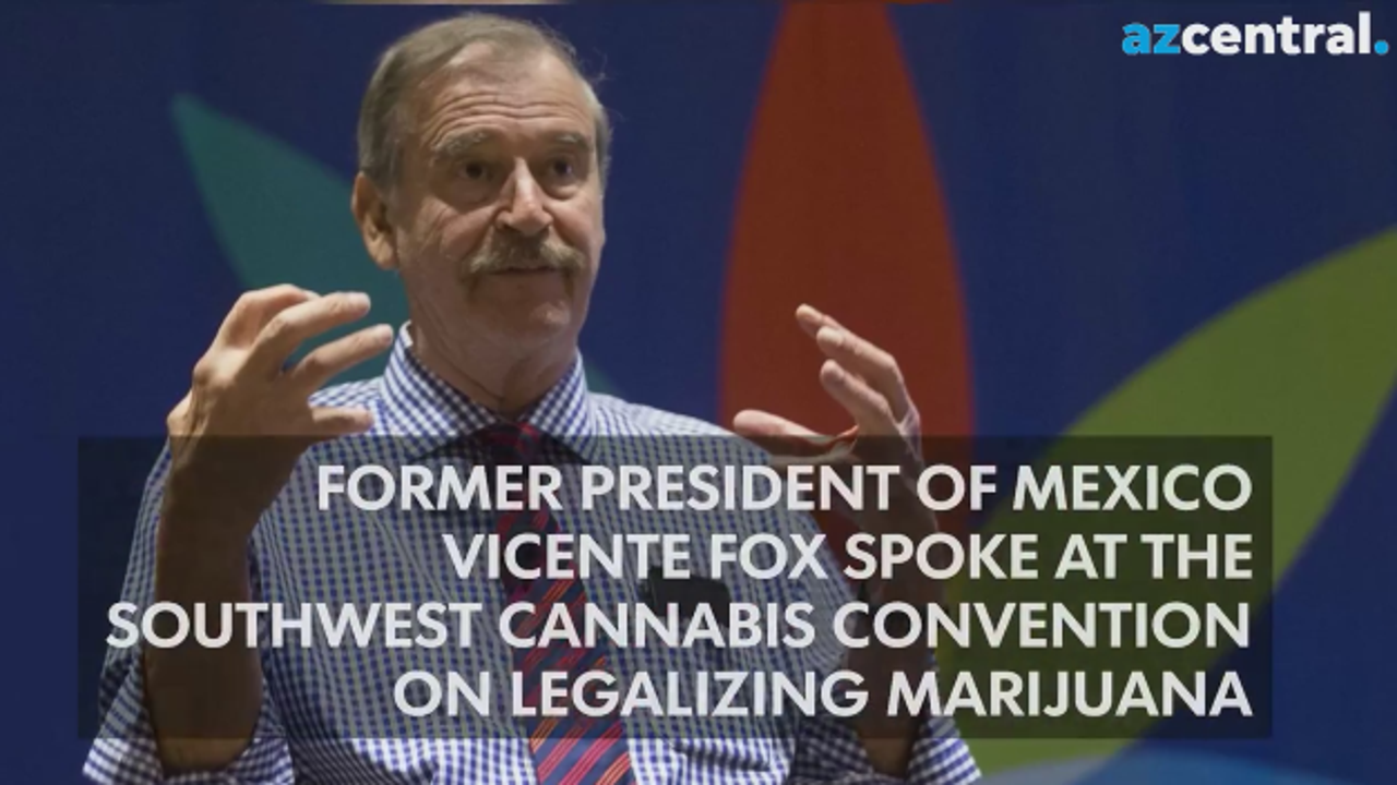 Vicente Fox speaks at the Southwest Cannabis Convention