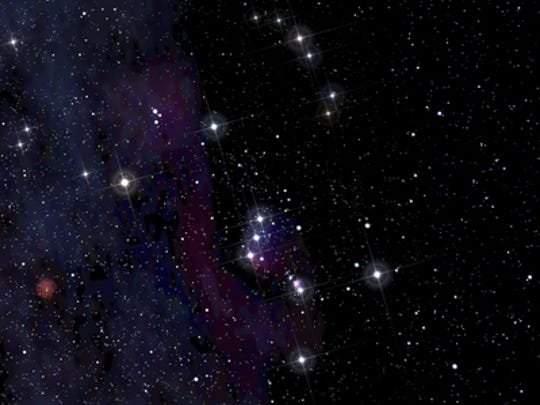 """Since humankind has existed, we've stared up at the stars and """"drawn"""" constellations to represent mythical heroes, such as Orion the hunter."""