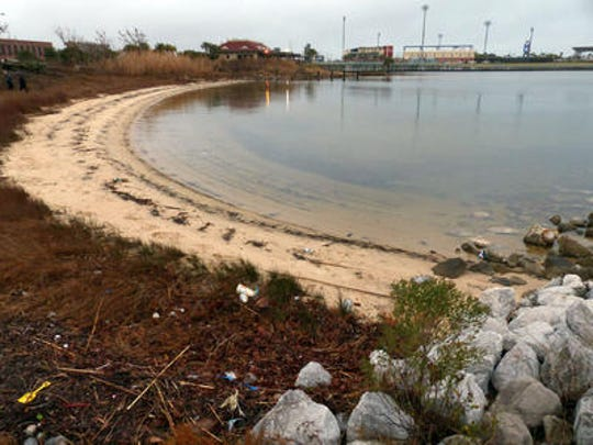 Bruce Beach located just west of the Community Maritime Park is being considered by the City of Pensacola as the site for a fish hatchery.