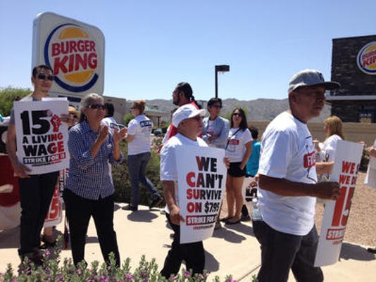 Fast-food workers protest
