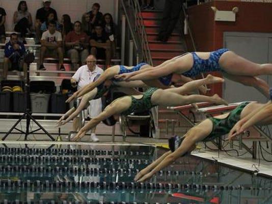 North/Lourdes vs. Oshkosh West swim
