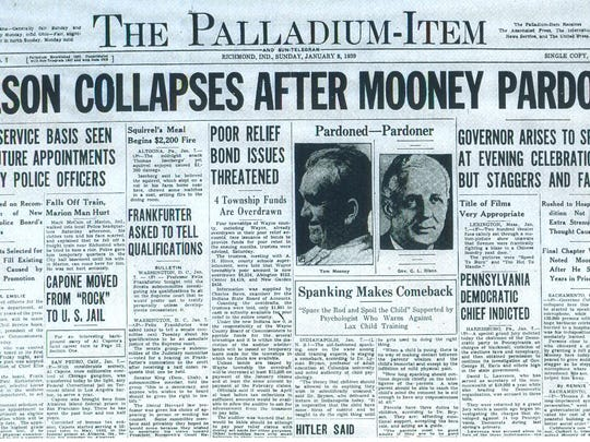 "On Jan. 8, 1939, the words ""The Palladium-Item"" first"