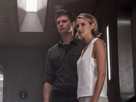 """Caleb (Ansel Elgort) and Tris (Shailene Woodley) in """"The Divergent Series: Allegiant - Part 1."""""""