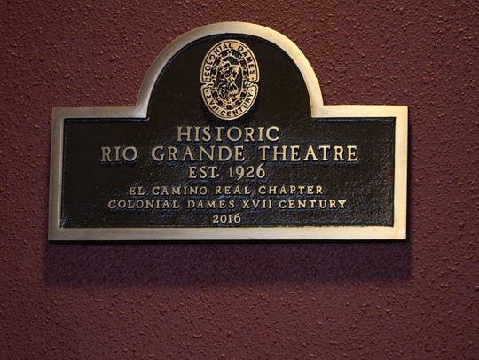 The new plaque dedicated by the El Camino Real Chapter