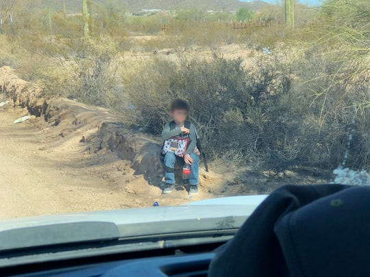 This image, released by the Tucson office of U.S. Customs and Border Protection, shows a 6-year-old boy whom agents found abandoned in the desert near Lukeville on June 20, 2018. The story of the boy was told to Melania Trump, the first lady, during a visit to Tucson on June 28, 2018.