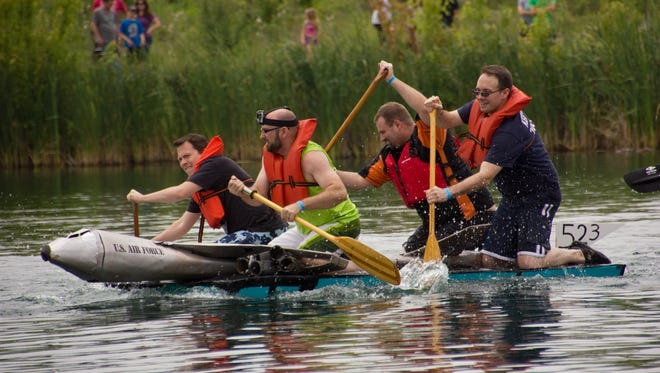 Clearly, some participants in the Crazy Cardboard Regatta are more committed to heavy-duty competition than others. The eighth annual event takes place July 15 at Voice of America Park.