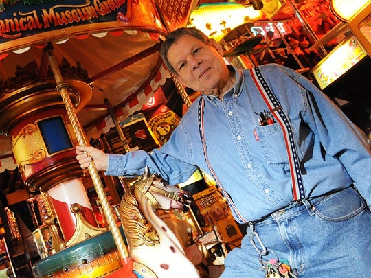 Marvin Yagoda, owner of Marvin's Marvelous Mechanical Museum. stands by his carousel on Monday, Jan.5, 2009. Yagoda passed away in 2017.