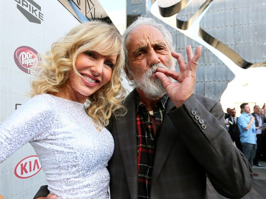 Tommy Chong and wife Shelby Chong attend Spike TV's 'Guys Choice 2014' at Sony Pictures Studios on June 7, 2014 in Culver City, Calif.