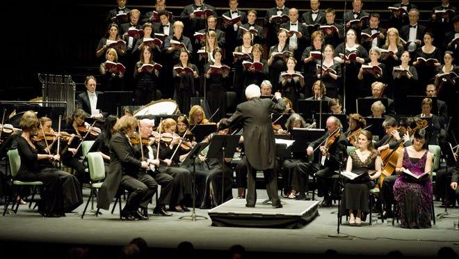 "Helmuth Rilling conducts Sven-David Sandström's ""Messiah"" in 2009."