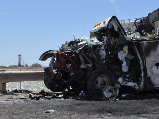 Three vehicles were involved in an early morning vehicle crash and fire. Two people have been confirmed dead, New Mexico State Police said.