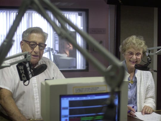 Aug. 27, 2002: Doc and Katy Abraham share a light moment