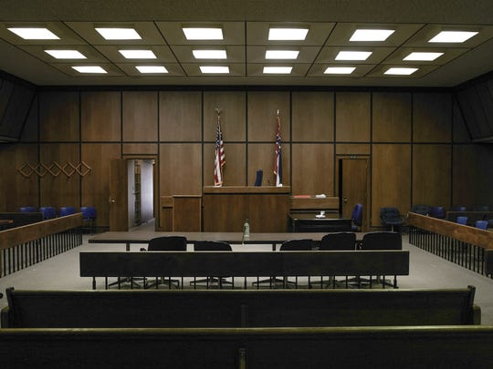 The courtroom where a panel of 11 white and one black jurors convicted Curtis Flowers of capital murder and sent him to death row.