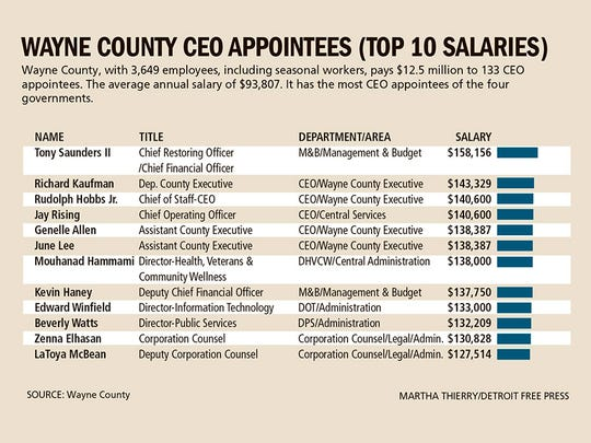 Wayne County appointees