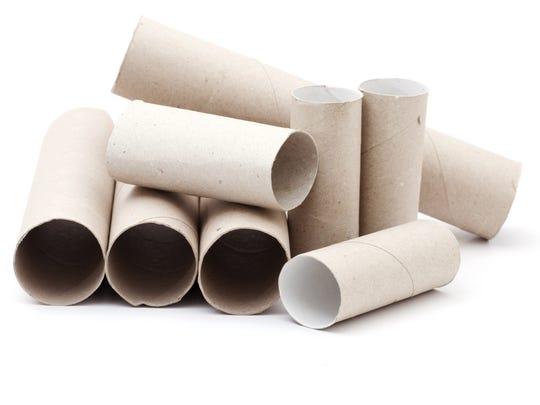Toilet paper rolls.