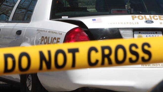 A crime scene in Indianapolis.