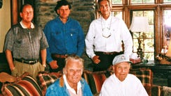 The Graham's, top row from left, Deryl Graham, Franklin