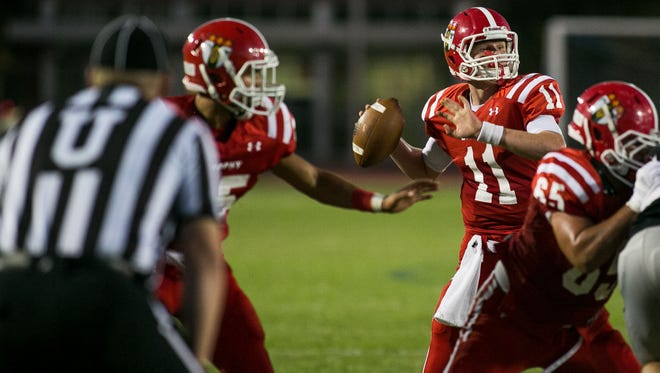 Brophy's Cade Knox completed 15 of 20 passes for 325 yards and four touchdowns and ran 14 times for 103 yards, including a 61-yard score against Desert Ridge's tough defense.