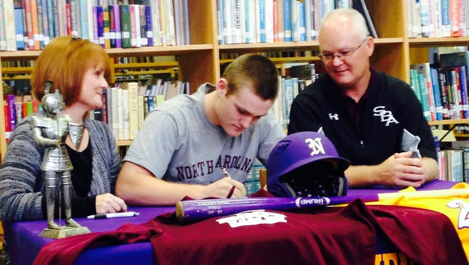 North Henderson senior Ryan Decker has signed to play college baseball for North Carolina Central.