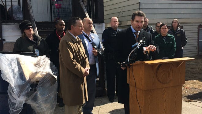 Ald. Tony Zielinski discusses a lawsuit against two nuisance properties on the city's south side on March 15, 2018.