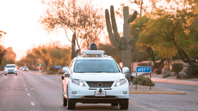 Google has brought four Lexus SUVs to metro Phoenix to begin testing self-driving cars here.
