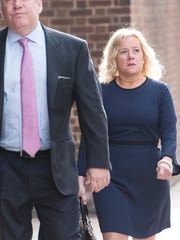 Bridget Anne Kelly on her way to the US Court of appeals in Philadelphia on Tuesday, April 24, 2018