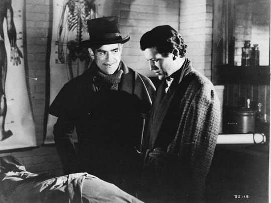 """Boris Karloff and the late Coachella Valley Realtor Russell Wade star in """"The Body Snatcher,"""" coming to the Camelot Theatres"""