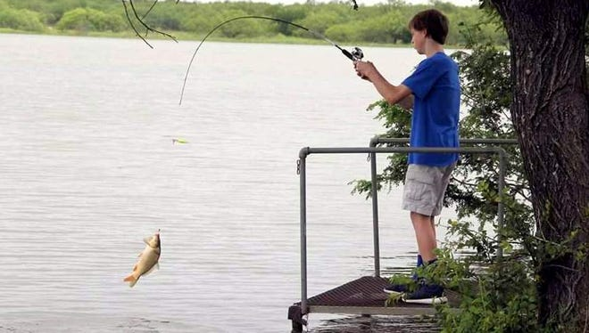 In this file photo, A.J. Howell reels in a fish during the 2016 Mark Howell Memorial Fishing Rodeo at Lake Arrowhead. The lake was named among the 12 best spots for crappie fishing by the Texas Parks and Wildlife Department Inland Fisheries Divison.