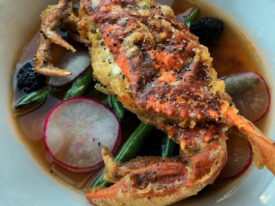 Recent Rook specials included soft-shell crab tempura