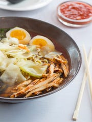The Chicken Ramen at Furoshiki simmers for eight to 10 hours to build up its strong flavor.