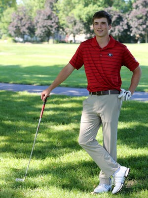 Rye High School's James McHugh, the Westchester/Putnam golfer of the year, is photographed at Rye Golf Club June 17, 2016.